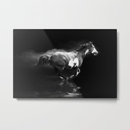 Galloping Pinto Horse Metal Print
