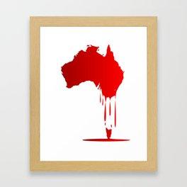 Australia Melting Down Framed Art Print