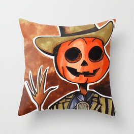 Mr Steampumpkinhead Throw Pillow