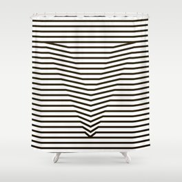 optical illusion Shower Curtain