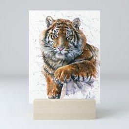 Tiger watercolor Mini Art Print
