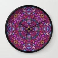 kaleidoscope Wall Clocks featuring Kaleidoscope by David Zydd