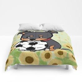 Charlie pup, Black Terrier pup Comforters