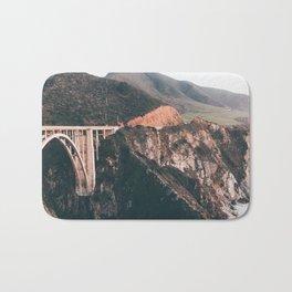 Bixby Bridge Big Sur Landscape Bath Mat