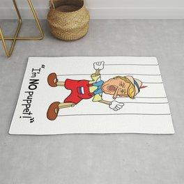Funny Donald Trump Pinocchio I'm No Puppet Rug