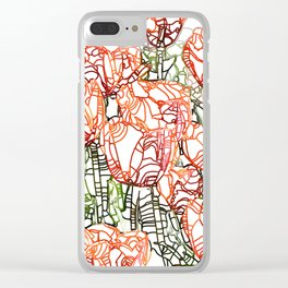 Tulip Garden #drawing #nature Clear iPhone Case