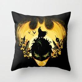 Dark Knightmare Throw Pillow