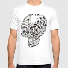 Funny skull Mens Fitted Tee White MEDIUM