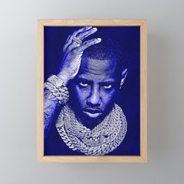 𝐇.𝕋.Ǥ.b.ㄚ. Rap Hip Hop Society6 Fabolous - Greg Yuna Jewelry Rap Music Hip Hop NYC Brooklyn Blu In Framed Mini Art Print