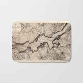Map of Yosemite 1865 Bath Mat