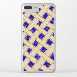 Blueberry Pie Clear iPhone Case