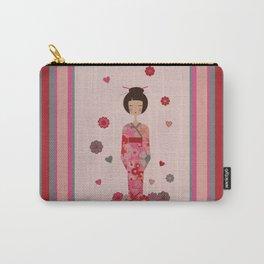 Kokeshi Geisha Japan Carry-All Pouch