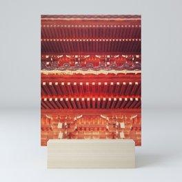 Three-storied pagoda Mini Art Print