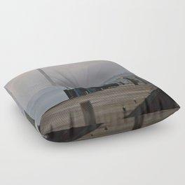 Foggy Evening Floor Pillow