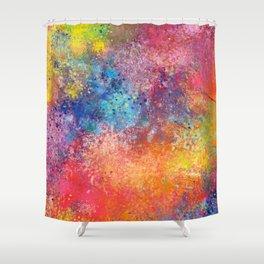 Galaxy Rainbow Shower Curtain
