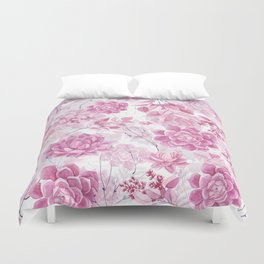 PINK SUCCULENTS #society6 Duvet Cover