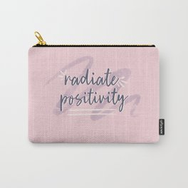 """Pink & Purple Watercolor """"Radiate Positivity"""" Quote Carry-All Pouch"""