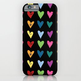 Funky Heart Doodles iPhone Case