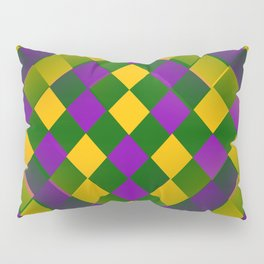 Harlequin Mardi Gras pattern Pillow Sham