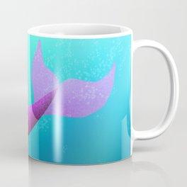 Underwater Swimming Mermaid Fins Pink Coffee Mug