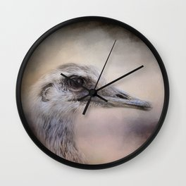 Poised - Ostrich - Wildlife  Wall Clock