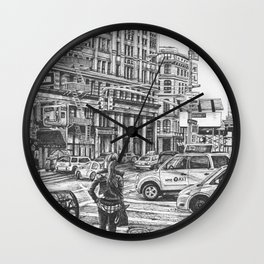 New York Taxis Wall Clock