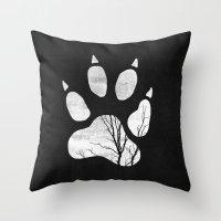 into the wild Throw Pillows featuring Wild by Elisabeth Fredriksson