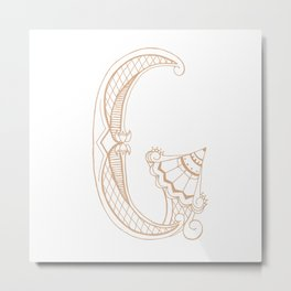 Fancy G Metal Print