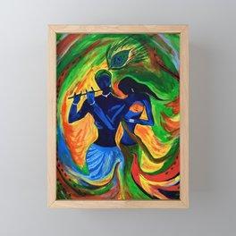 Radha-Krishna Framed Mini Art Print