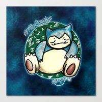 snorlax Canvas Prints featuring 142 - Snorlax by Lyxy