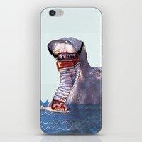 hippo iPhone & iPod Skins featuring Hippo by MGNFQ