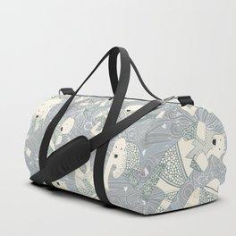 arctic polar bears silver Duffle Bag