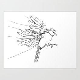 Embroidered Bird Art Print