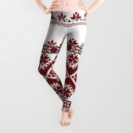 Traditional romanian motif Leggings