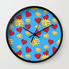Love Hate Wall Clock