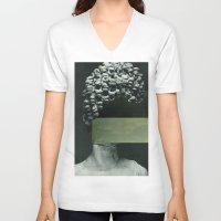 rothko V-neck T-shirts featuring Frau Rothko by Marko Köppe