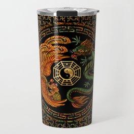 Phoenix and Dragon with bagua #2 Travel Mug