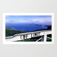 philippines Art Prints featuring OFF LIMIT (Philippines) by Julie Maxwell