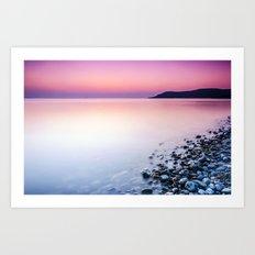 Deganwy Sunset Art Print
