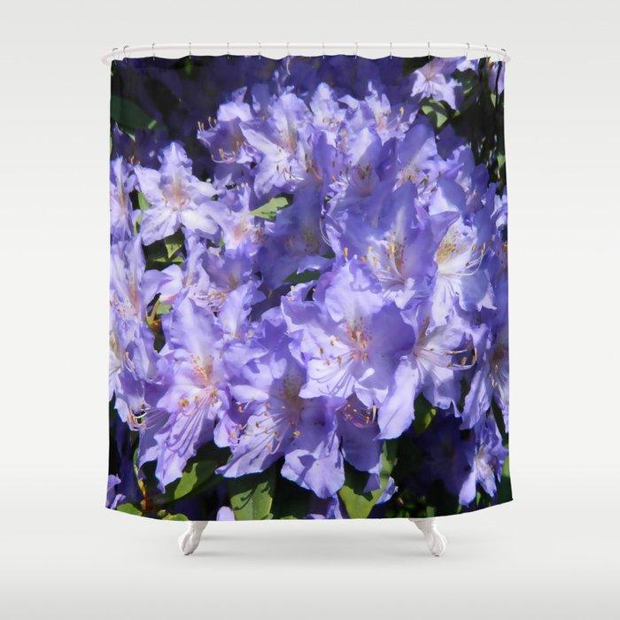 Indigo Azaleas Shower Curtain