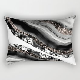 Agate Rose Gold Glitter Glam #3 #gem #decor #art #society6 Rectangular Pillow