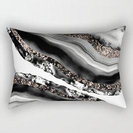 Agate Rose Gold Glitter Glam #3 #gem #decor #art #society6 Rectangular Pillow