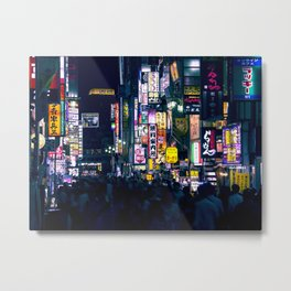 Neon Signs in Tokyo, Japan / Night City Series Metal Print