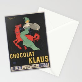 CHOCOLAT KLAUS FRENCH VINTAGE POSTER Stationery Cards
