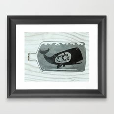 Whale in a Bottle | Ship's Wheel Framed Art Print