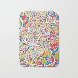 Austin Texas City Map Bath Mat