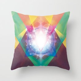 PRYSMIC ORBS II Throw Pillow