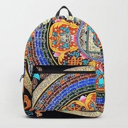 Om Mantra Tibetan Mandala Sapphire Backpack