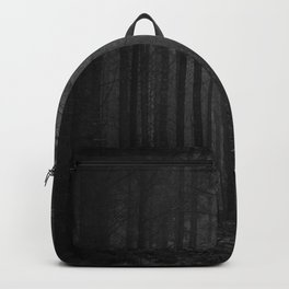 The Dense & Foggy Forest (Black and White) Backpack