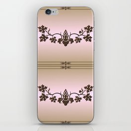 Chez Cabernet (tan woodburn) iPhone Skin